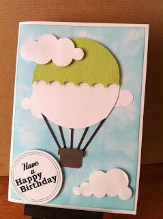 Hot Air Balloon card using Craft Robo