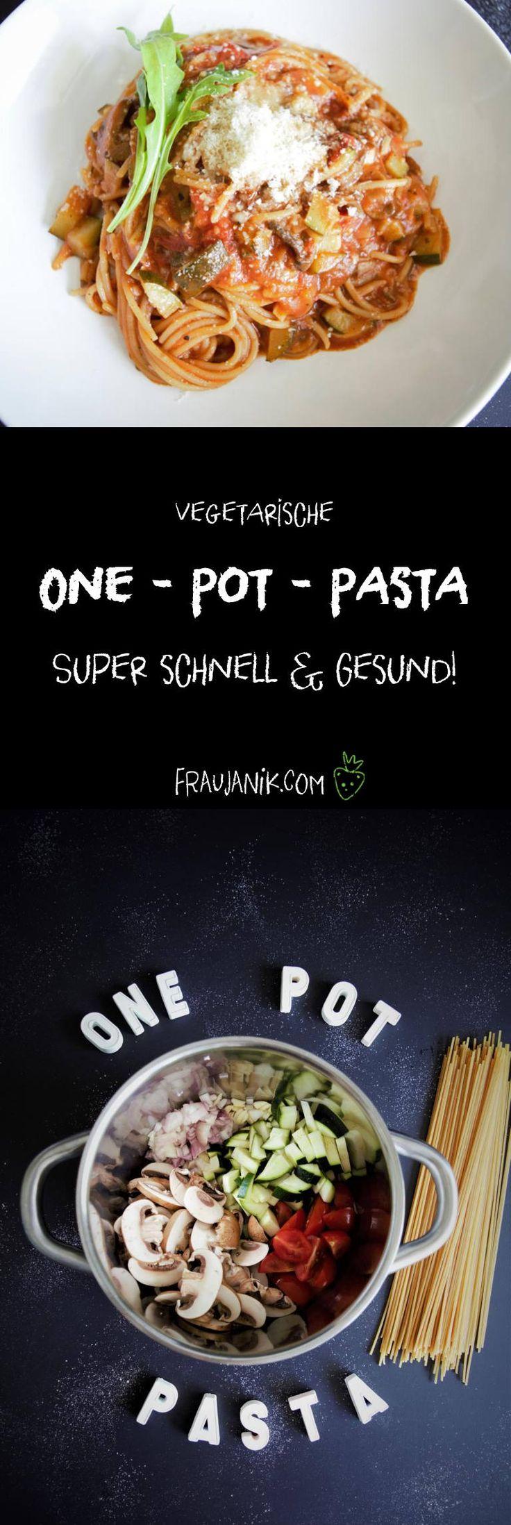 One Pot Pasta = Ein Topf Pasta! Schnell, variationsreich & minimaler Abwasch... Alles in einen Topf und fertig! JA! Das geht sogar sehr gut!