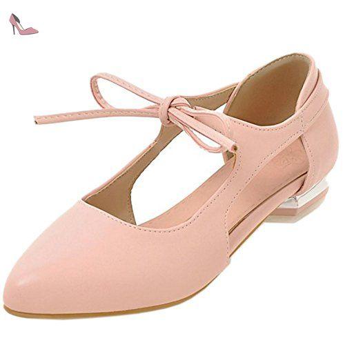 COOLCEPT Mujer Moda Cerrado Planos Mules Mary Janes Zapatos (34 EU, Silver)