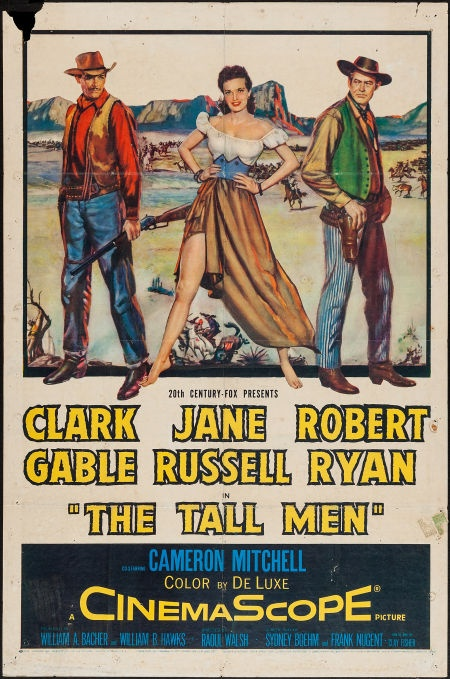Movie Posters:Western, The Tall Men (20th Century Fox, 1955). One Sheet (... Image #1