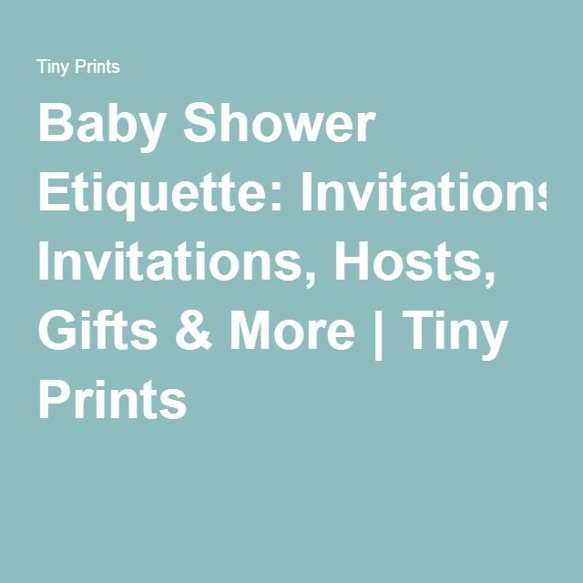 Baby Gift Thank You Etiquette : Must see baby shower etiquette thank
