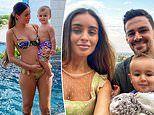 Pregnant MKR star Zana Pali cradles her baby belly in a bikini