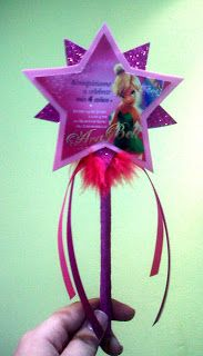 Events & Crafts.: Birthday Tinkerbell Invitaciones