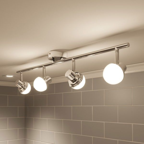 Forum Mesic 4 Light Bar Bathroom Ceiling Spot Light Bar Lighting Contemporary Style Bathrooms Ceiling