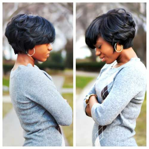Short Curly Bob Hairstyle for Black Women