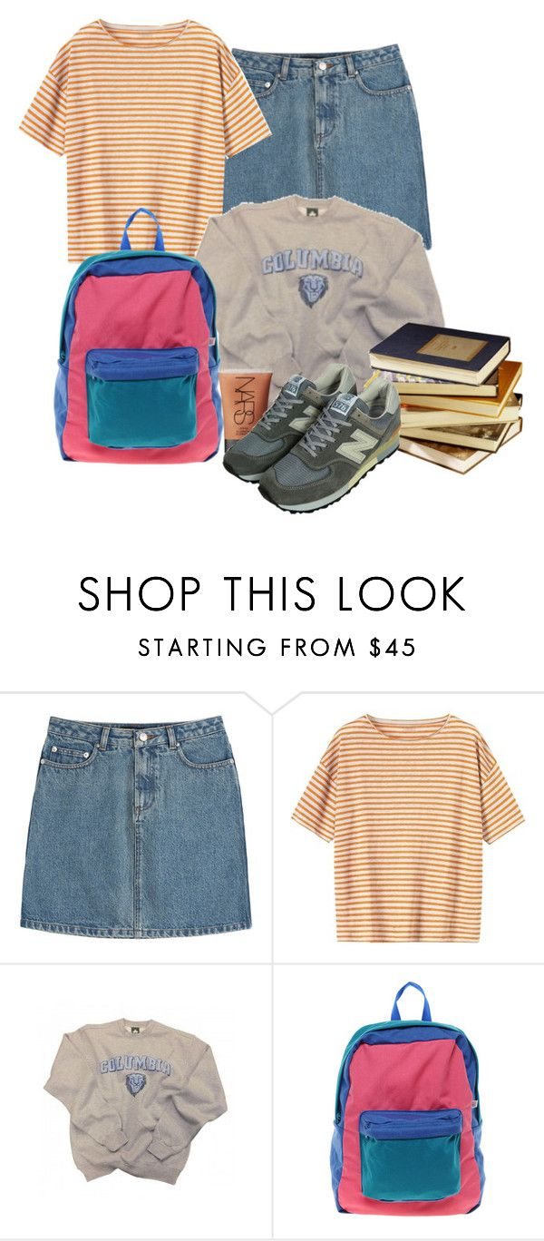 """Untitled #372"" by liooo ❤ liked on Polyvore featuring A.P.C., Toast, Columbia, American Apparel, Public Library and NARS Cosmetics"