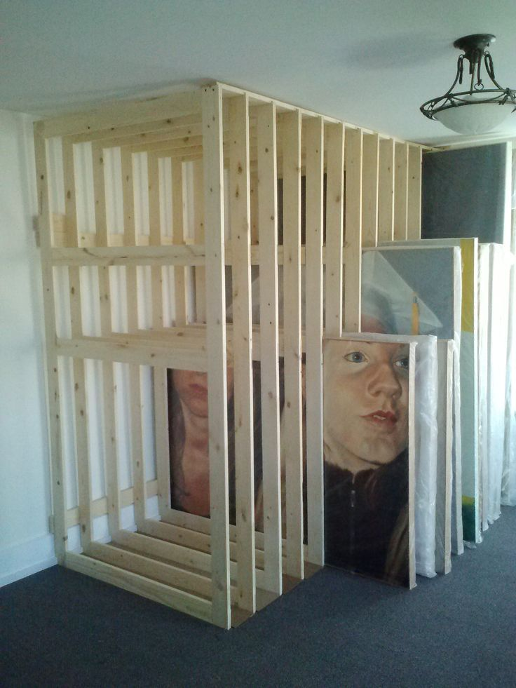 respecting the space | Home Painting Rack Storage