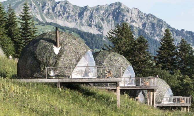 Whitepod: il Glamping ai piedi delle Alpi