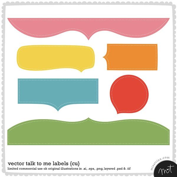 Vector Talk to Me Labels from Miss Tiina #freebie #digiscrap #scrapbook