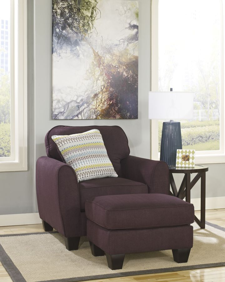 Ean - Eggplant Fabrics Chair And Ottoman · Living Room ... - 77 Best Images About Ottoman Sets On Pinterest Ottomans, Chair