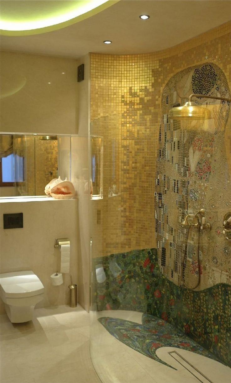 Mozaika szklana, 'Pocałunek' Gustawa Klimta