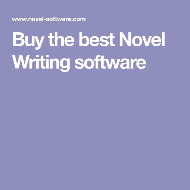 Best 25 writing software ideas on pinterest novel writing buy the best novel writing software fandeluxe Choice Image