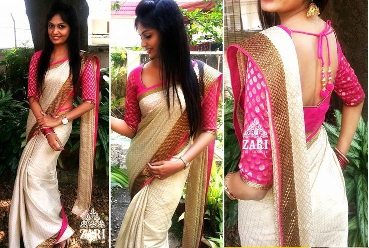 kanchipuram sarees blouse design - Google Search