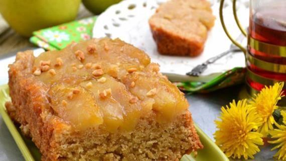 Постный яблочный пирог-перевертыш. Пошаговый рецепт с фото, удобный поиск рецептов на Gastronom.ru