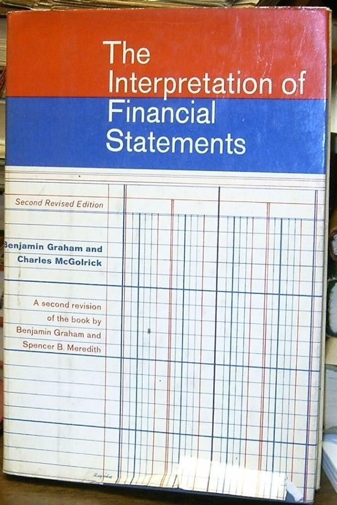 The interpretation of financial statements, by Benjamin Graham and Charles McGolrick