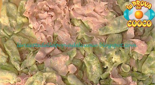 Caramelle verdi con ragù di mortadella ricetta Alessandra Spisni