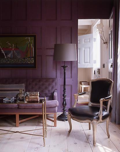 Soft tones of purple.