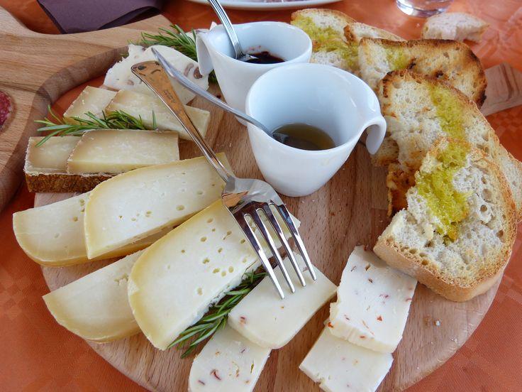 Pecorino cheese served with honey