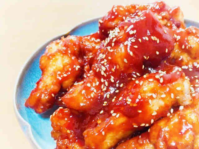 ヤンニョムチキン♡韓国の甘辛チキンです。の画像