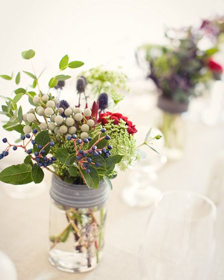 Mixed Bouquet in a Mason Jar | photo Danijela Prujinic via Kitka | House & Home