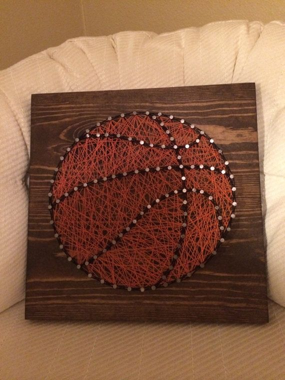 CUSTOM Sports Basketball String Art Sign Sports Art by KiwiStrings