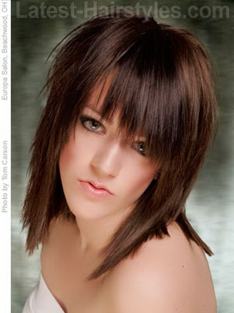 medium haircuts bangs layers best 25 medium choppy hairstyles ideas on 4988 | cc42f2a20835e421fd2d5e62dd8e4c01