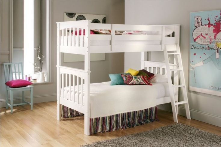 Aspen Deluxe Bunk Bed White £249 00 kids Pinterest