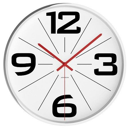 jonsson clock with chrome case 12 wall - Target Wall Clocks