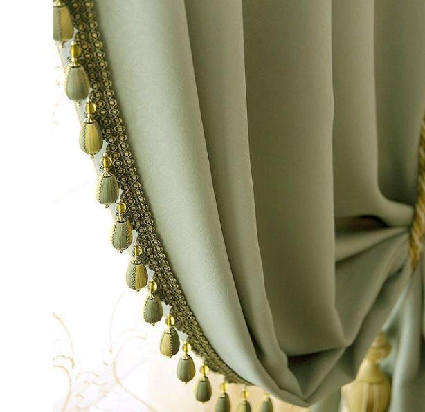 Современная Мода Бисером Гостиная Занавес для Спальни Зеленые Плотные Шторы на Окне, купить на AliExpress