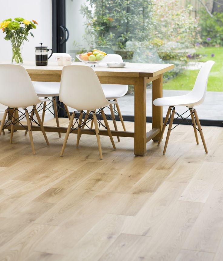 FLOORS And BLACK DOORS Light Natural Oak For A Classic Yet Modern Finish I Also Love The Chairs Easy To Maintain Very Affordable Knock Offs