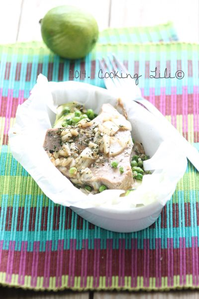 Papillote de thon à la citronnelle. D'autres recettes de papillotes sur www.enviedebienmanger.fr/recettes/papillotes