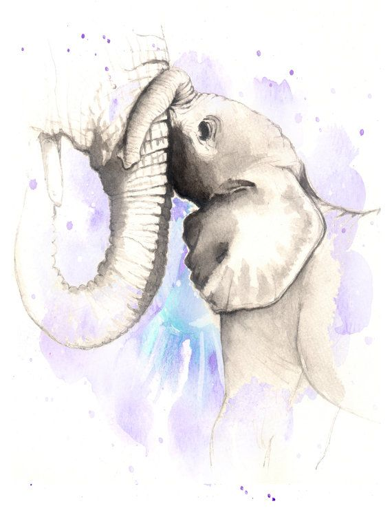 Mother and Baby Elephant elephant art print, elephant decor, elephant print, colorful elephant, elephant illustration, baby animal art, elephant watercolor   Please note that:  * This print is made from my original horse painting.  * All my print is made through professional print company.  * Mat / Frame is NOT included. -------------------------------------------------------------------------------------------------------- Shipping is $3.00 for your first item and $.50 for each additional…