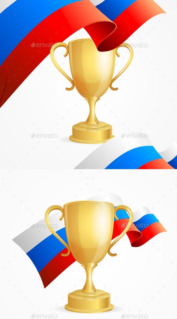 Russia Winning Golden Cup Concept