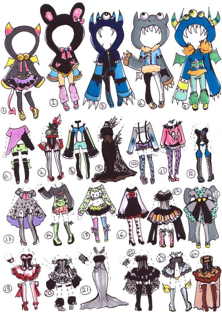 CLOSED-Clothes adoptables by Guppie-Adopts on deviantART