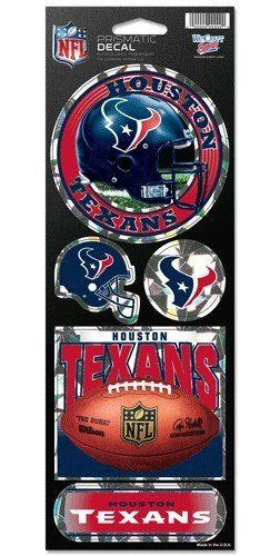 NFL Houston Texans Prismatic Stickers Team Color One Size * Be sure to check out this awesome product.