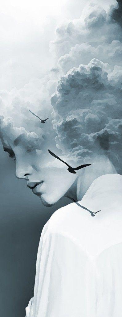 _Un même espace unit tous les êtres : espace intérieur du monde. En silence l'oiseau vole au travers de nous. R.M. Rilke_Antonio Mora