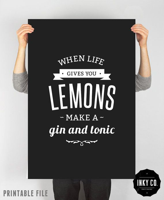 Graphic Design poster Lemon print Printable File Vintage by INKYCO