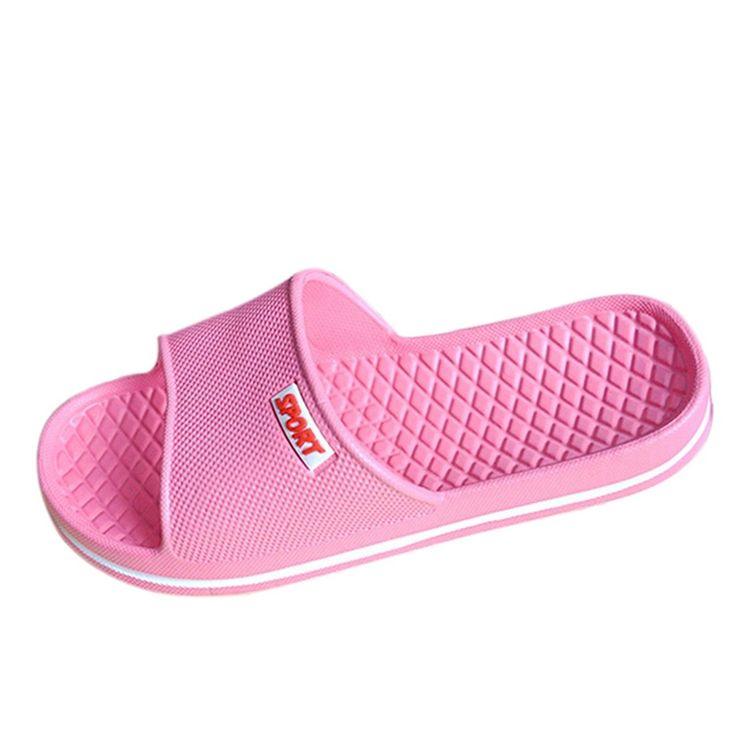 Unisex Non-slip Flip Flops Giraffe Pink Love Cool Beach Slippers Sandal