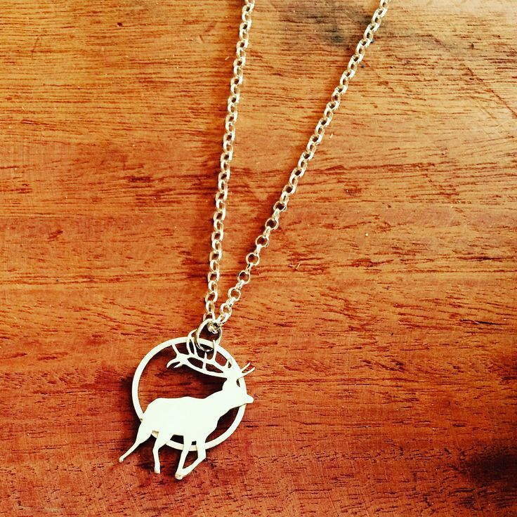 Pierced Out Reindeer Pendant, Sterling Silver