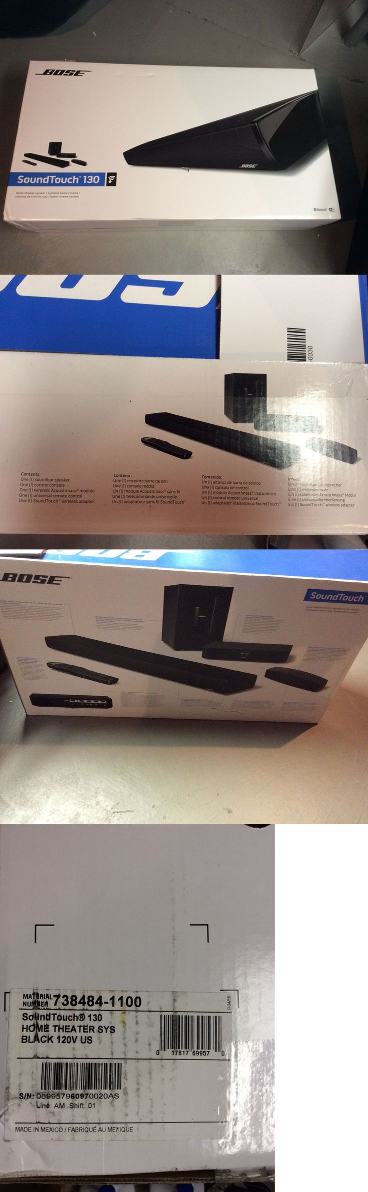 Home Theater Systems: Bose Soundtouch 130 Home Entertainment System - Black Nib -> BUY IT NOW ONLY: $900 on eBay!