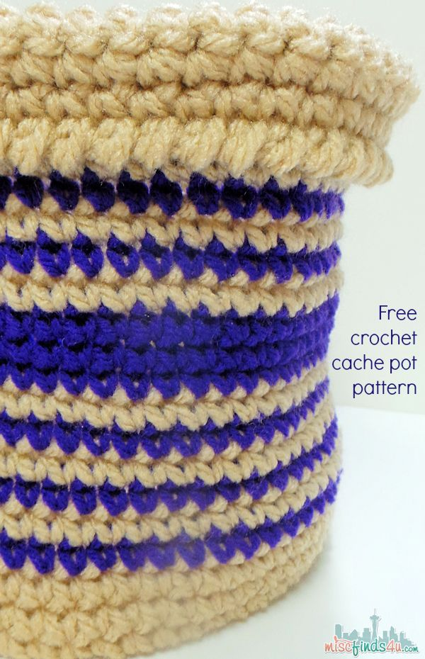 Crochet Storage Basket Pattern: Free and Easy - single crochet basket that's can be made in a few hours. Store toys and more in this fun little cache pot.