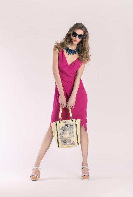 Dress Vivienne Westwood, 10 890 CZK Necklace  Appartement à louer, 4790 CZK Glasses Thierry Lasry, 9590 CZK Handbag Barbara Rihl, 8790 CZK Shoes Mellow Yellow, 4790 CZK