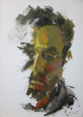 "Saatchi Online Artist Masri Hayssam; Painting, ""Self portrait - In living color-masri#22"" #art"