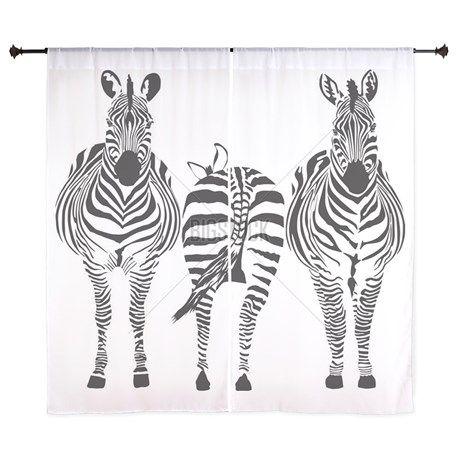 "Zebras 60"" Curtains"