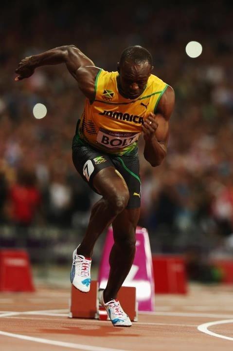 Gold medal winner Usain Bolt, the fastest man alive