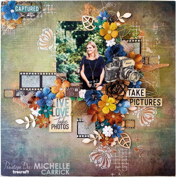 Single-page layout by Michelle Carrick created with the Penelope Dee Photogenic Range
