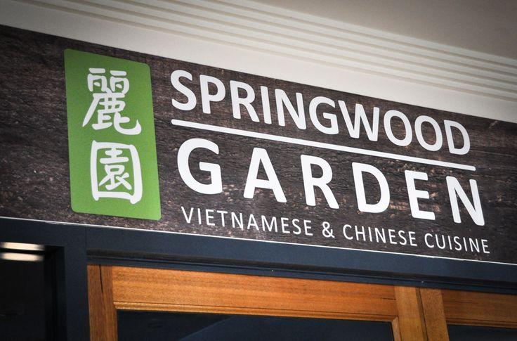 Signage of Springwood Garden. Springwood Tower, Brisbane.