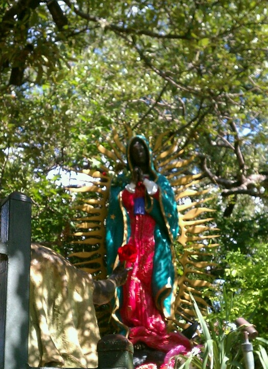 Our Lady of Guadalupe Tepeyac de San Antonio. Part of the Lourdes Grotto in San Antonio, Texas.  Photo by D. Canon