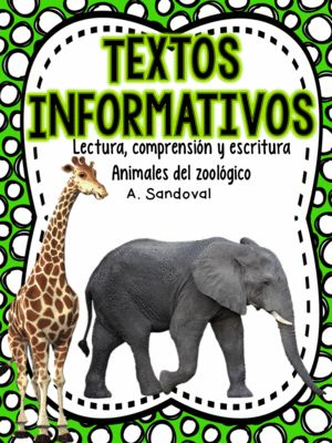 Informative Texts for Informational Writing (ZOO Animals)in Spanish from Angelica Sandoval on TeachersNotebook.com (48 pages)  - This unit includes 11 passages related to zoo animals. I used these passages to get my students writing informational text. They also answer comprehension questions related with the text using interactive notebooks.  1. Los leones 2. Los cocodrilos 3. El
