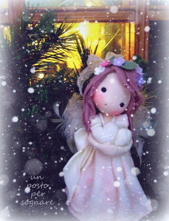 NATALE CREAZIONI,CHRISTMAS,NOEL, ANGELI PORCELLANA FREDDA,
